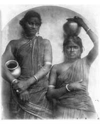 Two Ceylonese Women with Water Jars, Pho... by Cameron, Julia Margaret