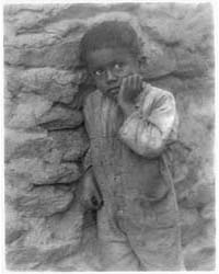 Negro Child Against Stone Wall, Photogra... by Ulmann, Doris