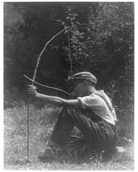 Boy with Bow and Arrow, Photograph Numbe... by Ulmann, Doris