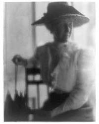Woman in Straw Hat and White Blouse with... by Day, F. Holland