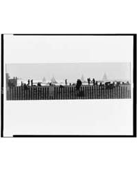 Unidentified Waterfront with Fence in Fo... by Erwitt, Elliott