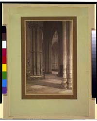 York Minster, Nave to Transept, Fhe., Ph... by Evans, Frederick H.