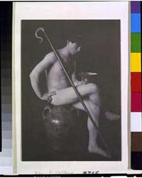 Nude Man in Studio with Shepherd's Crook... by Day, F. Holland