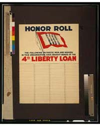 Honor Roll the Following Patriotic Men a... by Library of Congress
