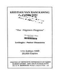 Kristian Van Ram Kawng Zawh Thu Ed. 17Th by Bunyan, John