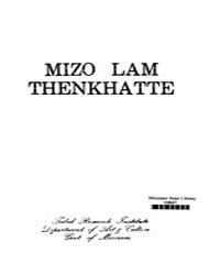 Mizo Lam Thenkhatte Ed. 2Nd by