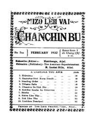 Mizo Leh Vai Chanchinbu 1932 by