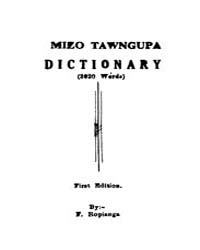 Mizo Tawngupa Dictionary by Ropianga, F.