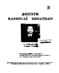 Mizote Ramhuai Hraitdan by Nghakliana, T.