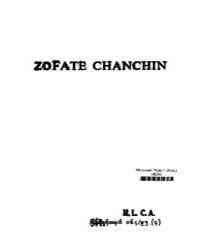 Zofate Chanchin Ed. 1St by