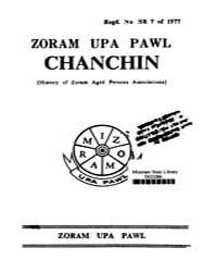 Zoram Upa Pawl Chanchin Ed. 1St by