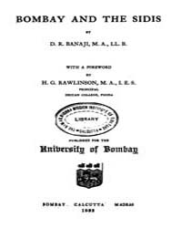 Bombay and the Sidis by Rawlinson H. G.