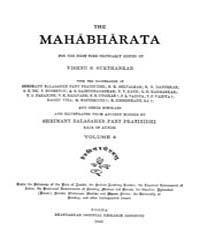 Mahabharata Aranyakaparvam Bhaga 4 by Vishnu S. Sukthankar