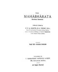 Mahabharata Vol. VII by P. P. S. Sastri