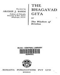 The Bhagavad Gita or the Wisdom of Krish... by Bahm, J. Archic