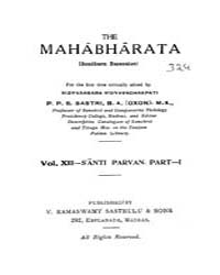 The Mahabharata Vol. VIII by Sastri. P. P. S.
