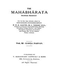 The Mahabharata Vol. Xi by P. P. S. Sastri