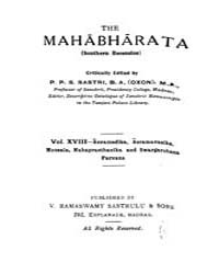 The Mahabharata Vol. Xviii by
