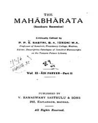 The Mahabharata Vol. 2 Part. 2 Adi Parva... by Sastri, P. P. S.