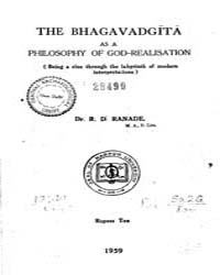 Bhagavad Gita as a Philosophy of God-Rea... by Ranade, R. D.