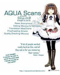Citrus 1 Volume No. 1 by Ayuko