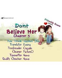 Don'T Believe Her 5 Volume No. 5 by Mi-ri, Hwang