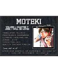 Moteki 7: Jingi, I will Be Loved Volume No. 7 by Mitsurou, Kubo