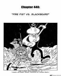 One Piece 440 : Firefist Vs Blackbeard Volume No. 440 by Oda, Eiichiro