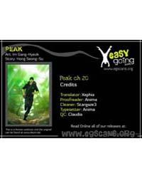 Peak (Im Gang-hyeok) 20 Volume Vol. 20 by Seong-su, Hong
