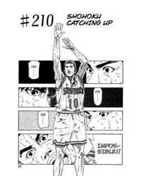 Slam Dunk 210 : Shohoku Catching up Volume Vol. 210 by Takehiko, Inoue