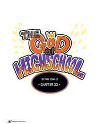 The God of High School 33 Volume Vol. 33 by Yong-je, Park