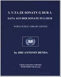 3. Veta Ze Sonàty G Dur 3. Sata Aus Der ... by Jiri Antonln Benda