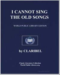 I Cannot Sing the Old Songs , Score Olds... by Claribel