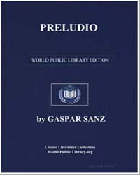 Preludio, Score Sanz-1 by Gaspar Sanz