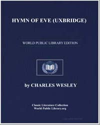 Hymn of Eve Uxbridge, Score Uxbridge by Charles Wesley