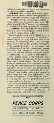 Community Development in the Peace Corps by Peace Corps (U.S.