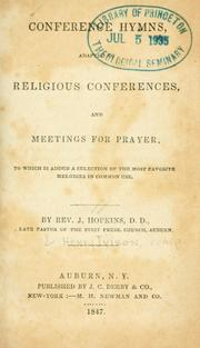 Conference Hymns : Adapted to Religious ... by Hopkins, Josiah, 1785-1862