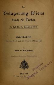 Die Belagerung Wiens Durch Die Türken,7 ... by Smolle, Leo, 1848-1921
