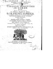 Disputatio Medica Inauguralis De Circulo... by Publisher: Apud Abrahamum Elzevier