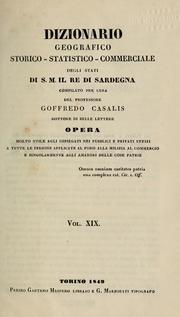 Dizionario Geografico, Storico, Statisti... Volume Vol. v.19 (S) by Casalis, Goffredo, 1781-1856, Ed