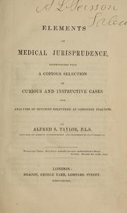 Elements of Medical Jurisprudence : Inte... by Taylor, Alfred Swaine, 1806-1880
