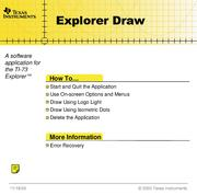 Explorer Draw V0.33 by Texas Instruments