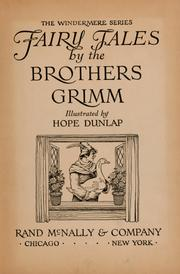 Fairy Tales by the Brothers Grimm by Grimm, Jacob, 1785-1863