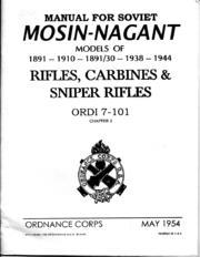 Mosin-Nagant 1891, 1910, 1891-30, 1938 &... by