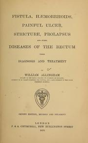 Fistula, Haemorrhoids, Painful Ulcer, St... by Allingham, William, 1829-1908