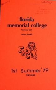 Florida Memorial College 1979 Summer Ses... by Florida Memorial College