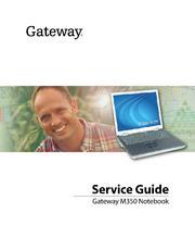 Gateway Laptop Service Manual: M350 Sm by