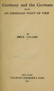 Germany and the Germans from an American... by Collier, Price, 1860-1913