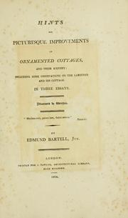 Hints for Picturesque Improvements in Or... by Bartell, Edmund