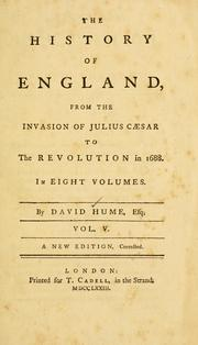 The History of England : from the Invasi... Volume Vol. v.5 by Hume, David, 1711-1776